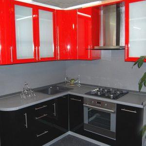 Красно черная кухня на заказ